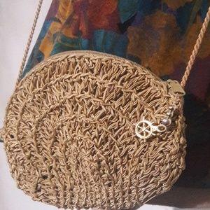 Handbags - Silk cord  Crossbody Purse small gold